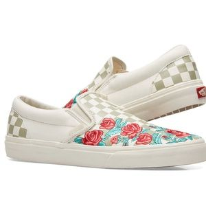 Vans Leather Embroidery Slip Ons